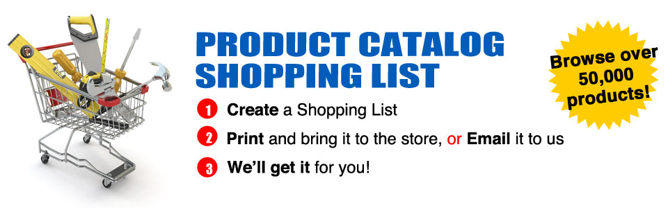 Product Catalog Shopping List